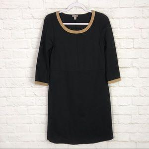 J. Jill Ponte Colorblock 3/4 Sleeve Scoop Dress XS